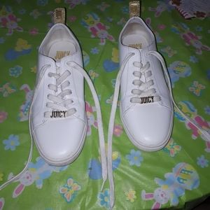 Juicy Couture JUICY White And Gold Sneakers